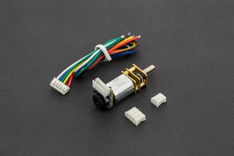 1 Motor De Nubes Motor Con Engranaje De Metal Peque?o W//Encoder 6V 105Rpm 150