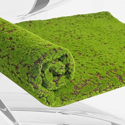 LIOOBO Musgo Artificial Estera de césped Falso Césped Plantas de liquen para el jardín del hogar Patio Decoración de Bricolaje (Coffee Point): Amazon.es: Hogar