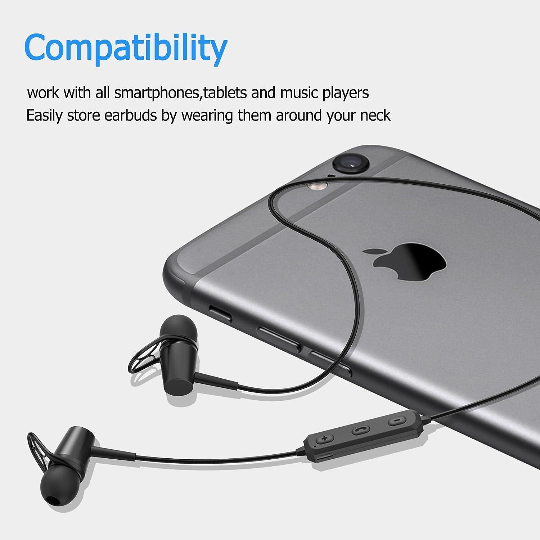 Amazon.com: Bluetooth 4.2 Headphones, Wireless Headphones, Earphones ...
