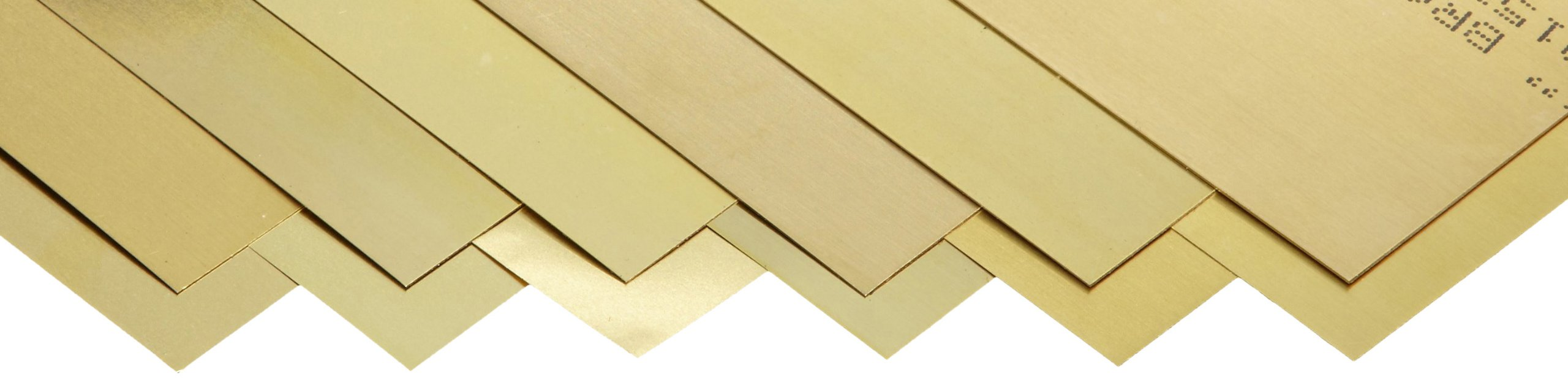 260 Brass Sheet, Unpolished (Mill) Finish, Half Hard Temper, 0.001-0.015'' Thickness, 6'' Width, 12'' Length (Pack of 12) by Small Parts