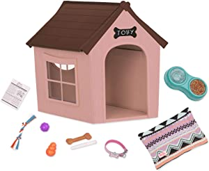 Our Generation- Deluxe Dog House Set for 18-inch Dolls