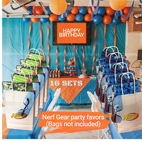 Amazon.com: Wishery Nerf Party Supplies for 16 Kids ...