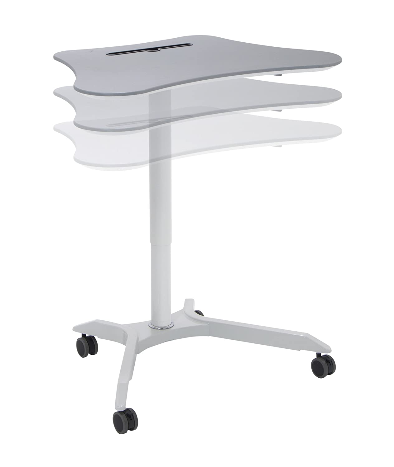 Calico Designs 51234 Cascade Height Adjustable Cart, White Silver