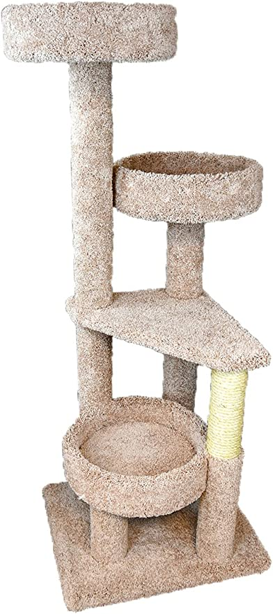 Amazon Com New Cat Condos 4 Level Cat Lounger Neutral Pet Supplies