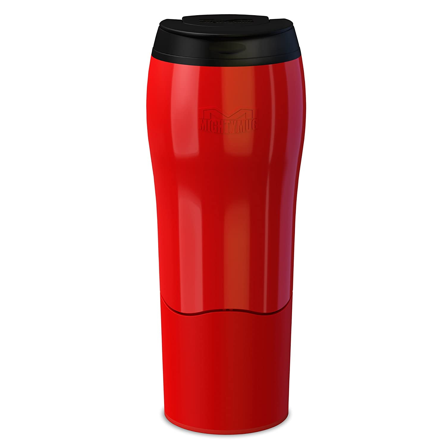 Mighty Mug Go - The Travel Mug That Won't Fall Over (0.47 Litre), Red Dexam 17920225
