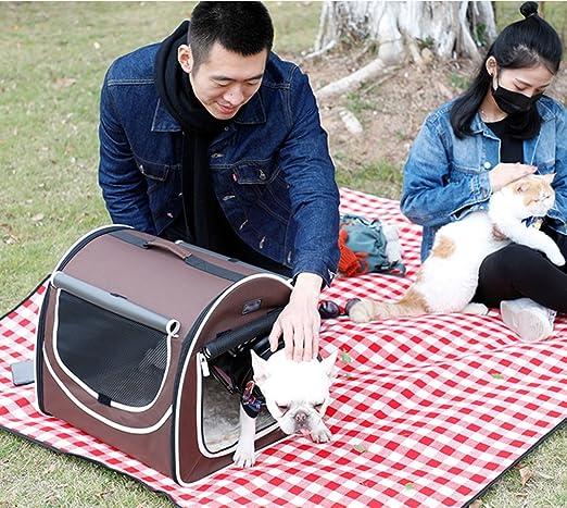 Cama para mascotas/Bolso para perros fuera de la maleta de transporte/bolsa de viaje de mascotas para mascotas: Amazon.es: Coche y moto
