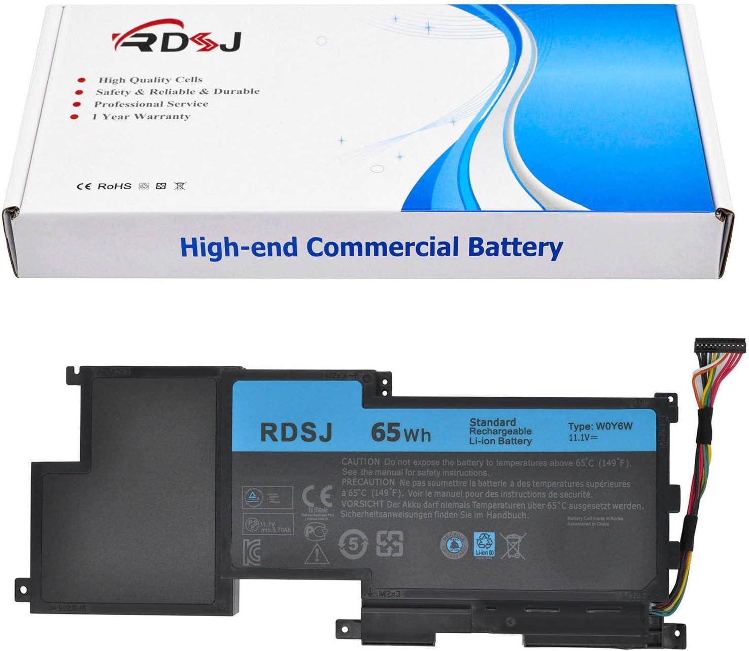 W0Y6W Laptop Battery for Dell XPS 15 L521X XPS 15-L521X XPS15-3828 Series WOY6W 3NPC0 03NPC0 CN-03NPC0 9F233 09F233 9F2JJ 09F2JJ T1G6P 11.1V 65Wh