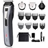 Professional Cordless Rechargeable Hair Trimmers Hair Cutting Kit, Shallwe Hair Trimmers for Men, 6-Piece Home Hair…