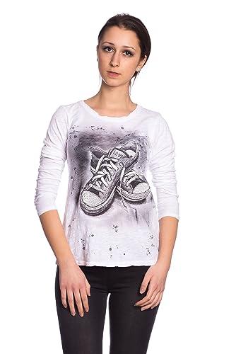Abbino 9153 Camisas Blusas Tops para Mujeres – Hecho en ITALIA – 3 Colores – Entretiempo Primavera Verano Otoño Mujeres Femeninas Algodón Elegantes Casual Vintage Oficina Fiesta Rebajas