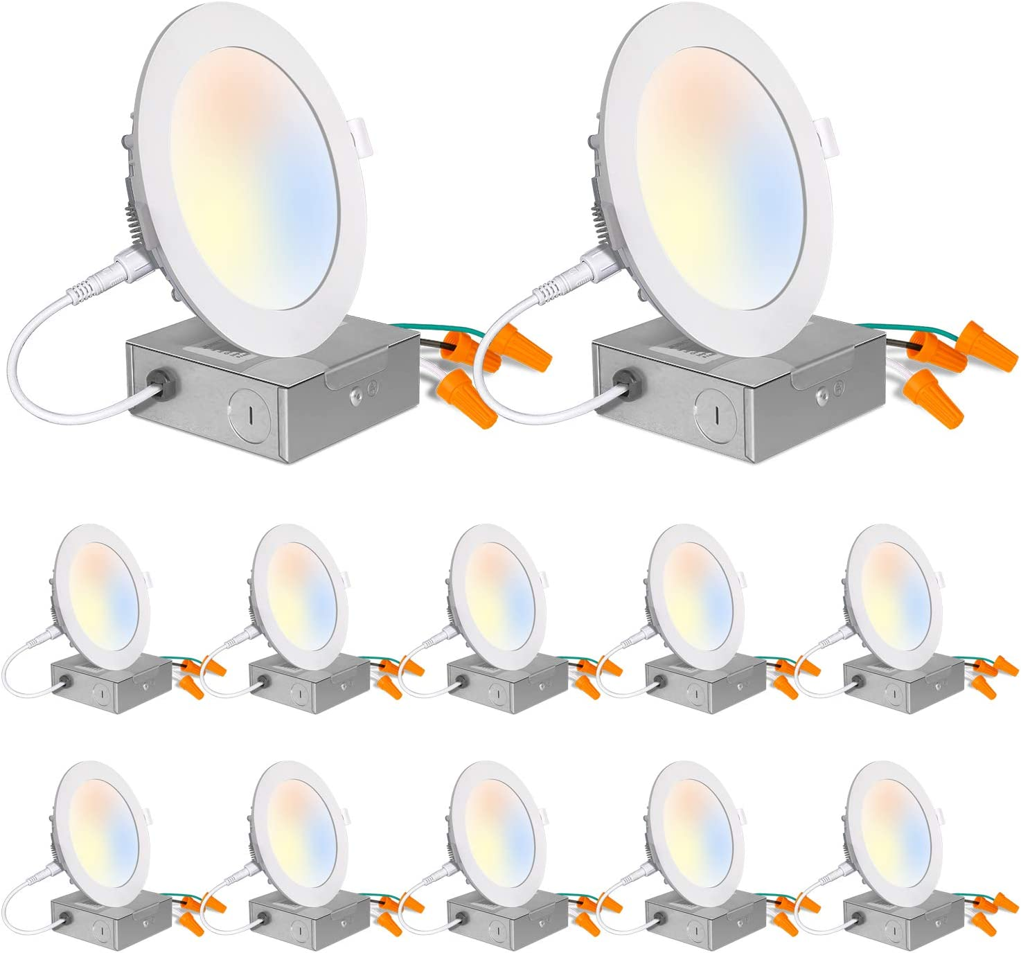 8 Inch Long x 5-1//4 Inch Wide x 5-1//2 Inch High 9 Pack 120 Volt Cooper Lighting Incandescent Downlight
