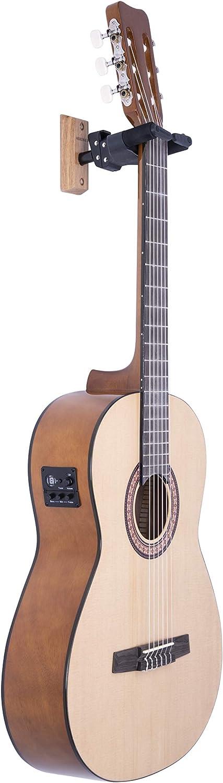 Hercules - Colgador de pared para guitarra Base de madera PLUS ...