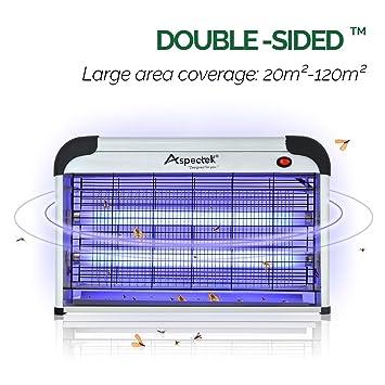 b7ae16b313ff84 Aspectek (UK prise de courant) Lampe tue insectes électrique, 30 W, ampoule
