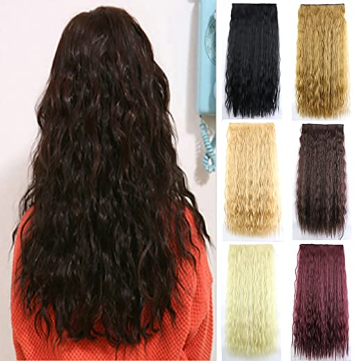 Amazon nicheng 5clips kinky curly big wavy popcorn clip in amazon nicheng 5clips kinky curly big wavy popcorn clip in hair extensions synthetic womens hairpieces 24inch 110g 33 beauty pmusecretfo Image collections