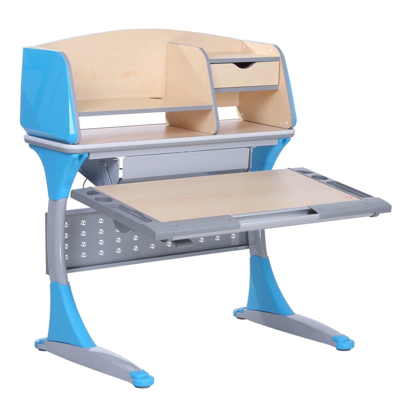 I STUDY Height Adjustable Children Desk Interactive Work Station (Blue)
