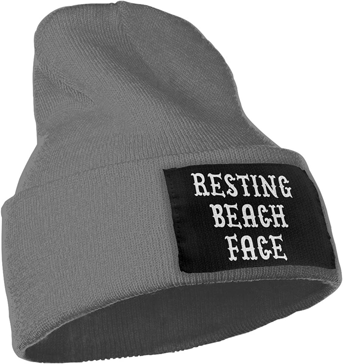 COLLJL-8 Men//Women Resting Beach Face Outdoor Warm Knit Beanies Hat Soft Winter Skull Caps