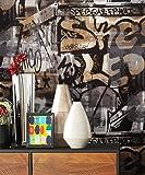 Graffiti tapete urban brick luxus schwergewicht mehrfarbig for Sternentapete grau