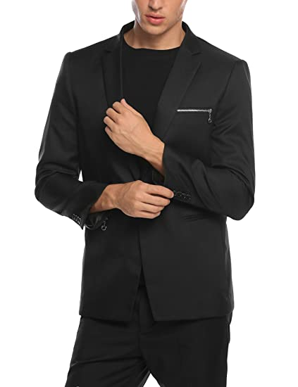 COOFANDY Mens Slim Fit Suit Blazer Casual One Button Sport Jacket Coat at Amazon Mens Clothing store: