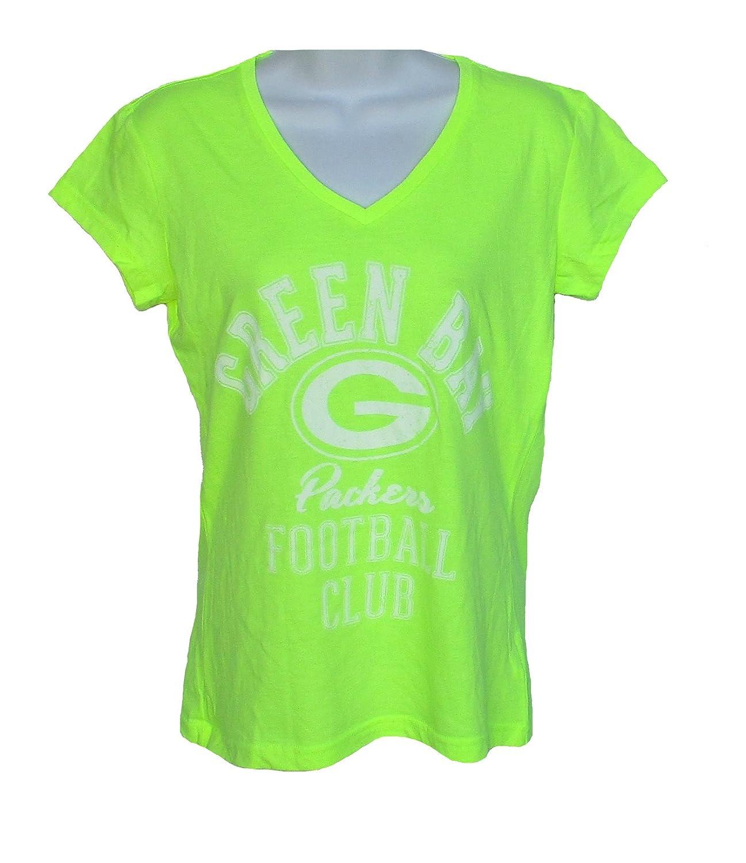 最新 Green Green Bay PackersレディースサイズXLサイズキャップスリーブVネックTシャツ B01N6SD2XY – – ネオンイエローとホワイト B01N6SD2XY, サイムラ:5e33c145 --- a0267596.xsph.ru