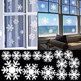 SOLMORE 41*15CM Stickers Muraux en Flocon de Neige Autocollant Décoration d'Atmosphère Noël/Fenêtre Verre/Fête/Soirée/Bar/Restaurant/Boutique/Magasin/Vitrine/Présentoir/Maison/École/Club
