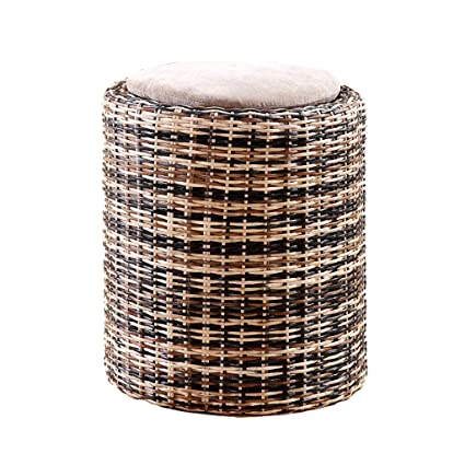 Awe Inspiring Amazon Com Liuxueping True Rattan Stool Rattan Small Stool Machost Co Dining Chair Design Ideas Machostcouk