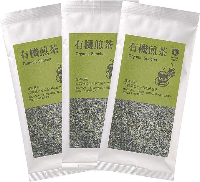 [ナチュラルハウス] 日本茶 有機煎茶 65g×3袋 オーガニック 有機栽培の茶葉を使用