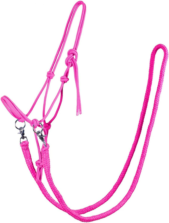 qhp nodos cabezada con riendas robusto 10mm grueso cuerda Varios Colores y Tamaños