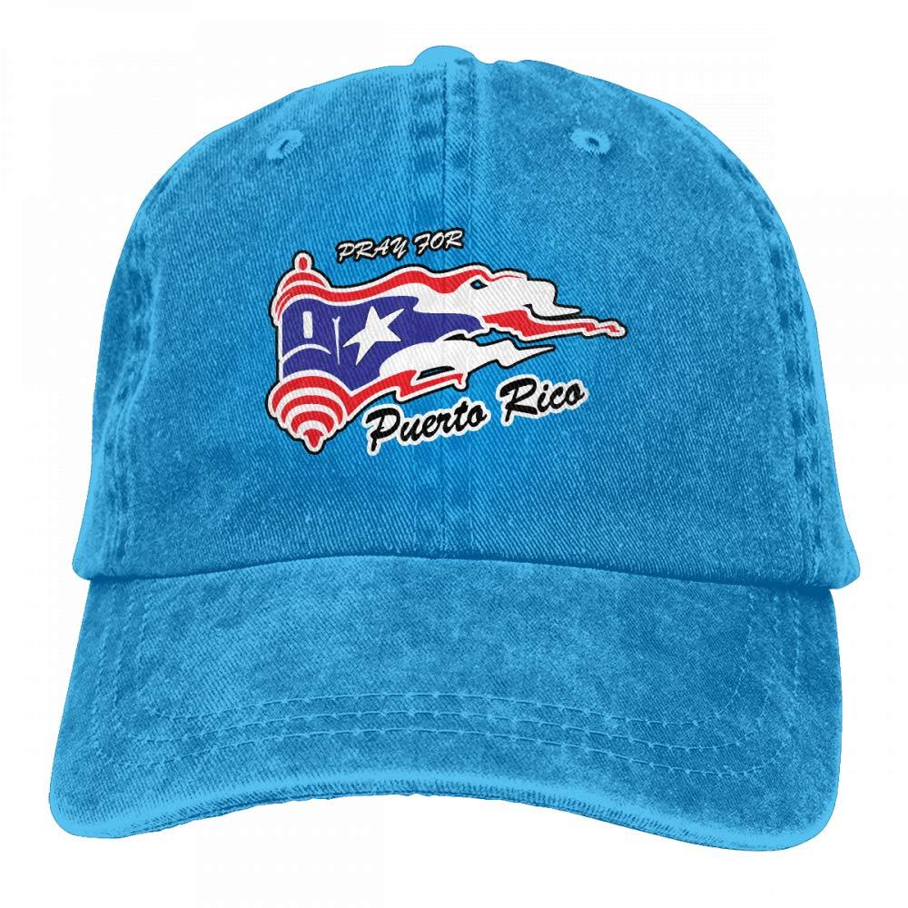 Unisex Vintage Washed Dad Hat Pray Puerto Rico Funny Adjustable Baseball Cap
