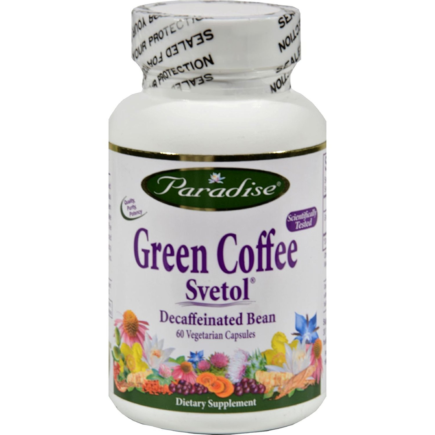 Paradise Herbs Green Coffee Svetol - 60 Vcaps (Pack of 2)