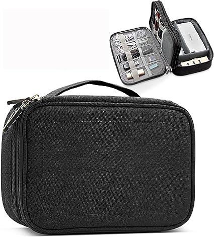 Bolsa organizadora de Cables de Viaje Extra Grande Doble Capa portátil Accesorios de electrónica para iPad Pro, Cargador, adaptadores, Discos Duros o Nintendo Switch: Amazon.es: Electrónica