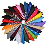 100% Cotton Bandanas, Alotpower Multipurpose Paisley Printing Cowboy Bandana Headbands Handkerchiefs Necktie