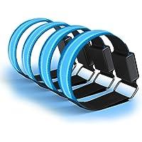 EAZY CASE 4 x LED Armband – Klettarmband mit 3 verschiedenen Modi I Leuchtarmband zur besseren Sichtbarkeit beim Joggen, Radfahren, Reflektor ideal für Kinder und Aktivitäten in der Dunkelheit