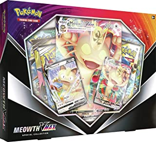 product image for PKMN Special Collection Box Meowth VMax Sword & Shield Pokemon V Gigantamax Series