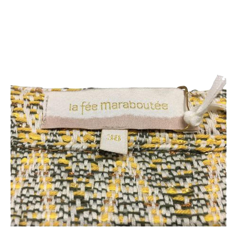 LA FEE MARABOUTEE giacca donna sfoderata giallo fantasia 80