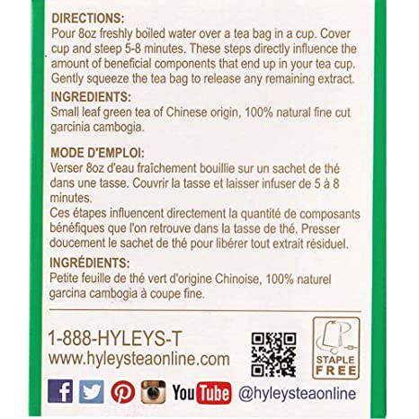 Hyleys Tea Garcinia Cambogia Green Tea 25 Count Pack Of 12 Amazon In Grocery Gourmet Foods