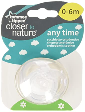 Amazon.com : TOMMEE TIPPEE Clear 0-6 month Anytime BPA Free Silicone ...