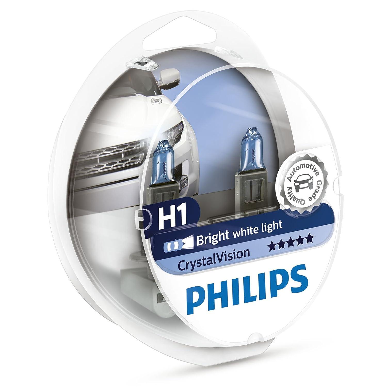 Philips crystalVision 12258 CVSM 55 W Ampoule pour voiture –  Ampoule pour voiture (55 W, lumiè re de frein, 4300 K, blanc, 55 W) lumière de frein 4300K 55W)