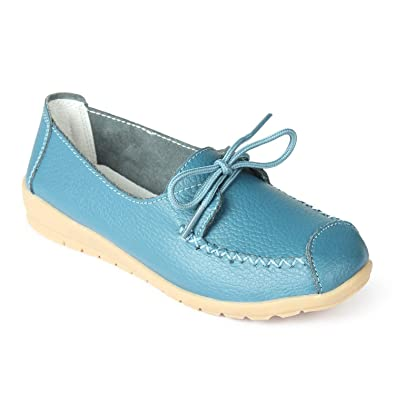 dcb11edfd Stitch Detail Blue Lace - Up Shoes  Buy Online at Low Prices in India -  Amazon.in