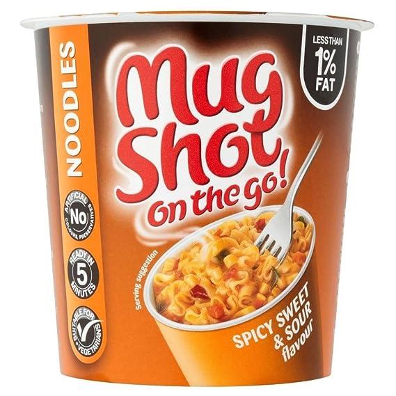 Mug Shot En Los Fideos De Sabor Agridulce Picante Go (67g) (Paquete de