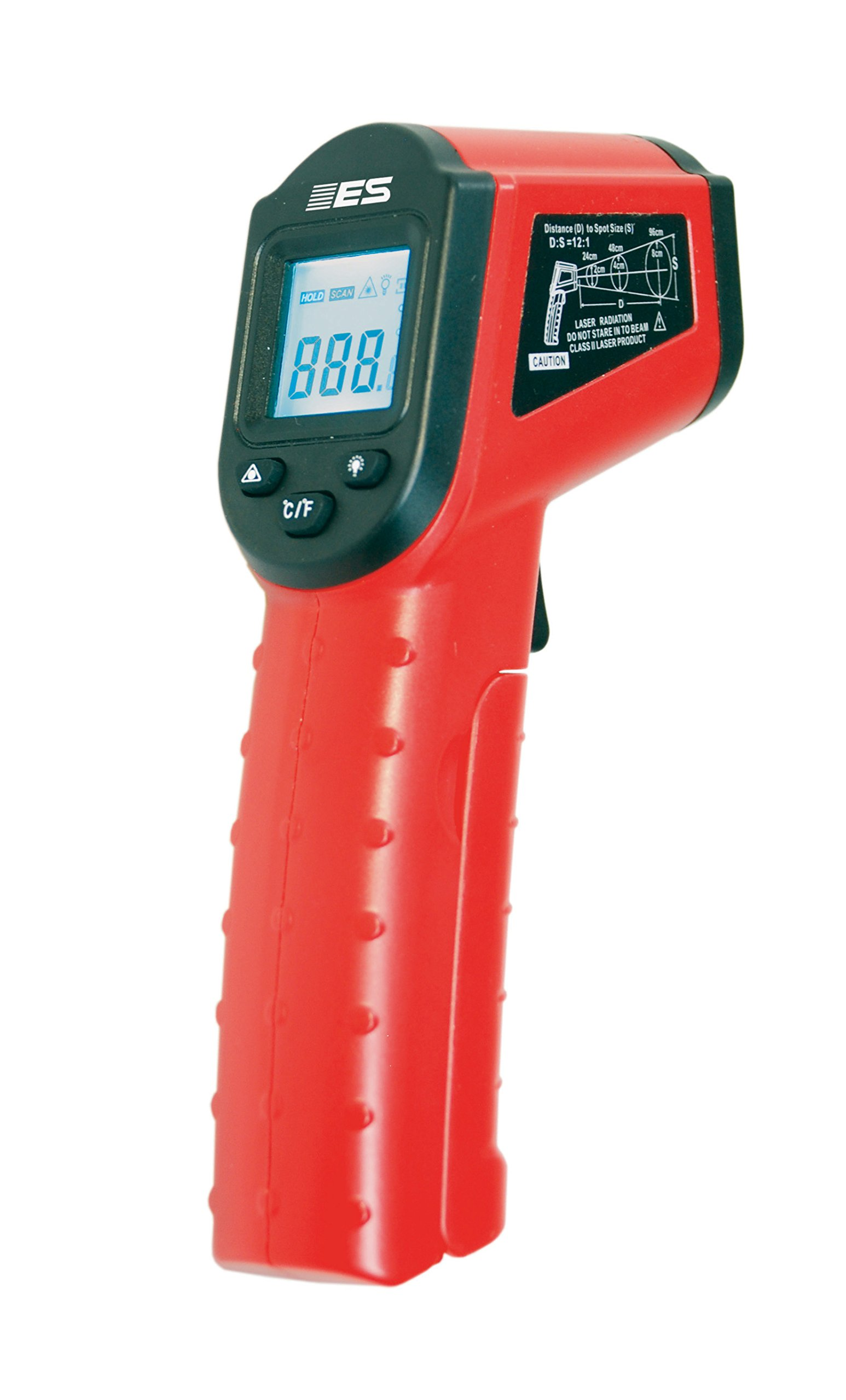 Electronic Specialties EST-45 Red 6.5'' x 3.5'' x 1.5'' Non-Contact Infrared Thermometer with Laser Pointer