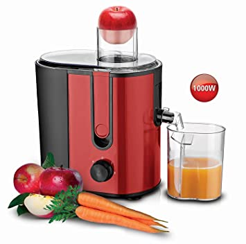 Exprimidor - Exprimidor eléctrico 1000 W Power Juicer - Exprimidor de fruta frutas Prensa para frutas rojo: Amazon.es: Hogar
