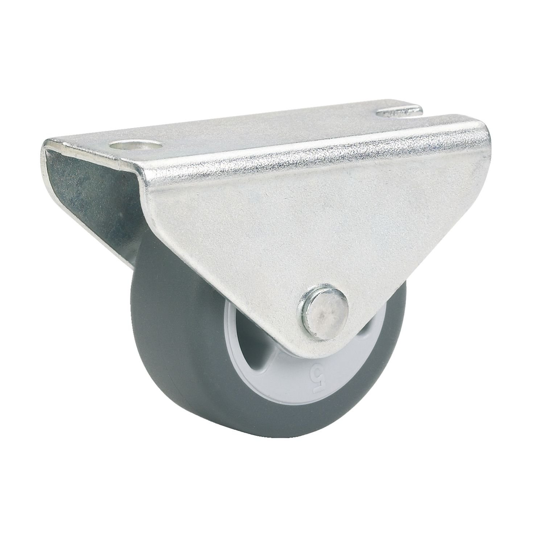 MRLION 791322 color gris Rueda parqu/é-ricino fijo 25 x 13 mm TPE-Rad