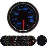 Oil Pressure Gauge Kit 7 Color 140PSI with Mechanical Oil Pressure Sensor - 2-1/16' 52mm