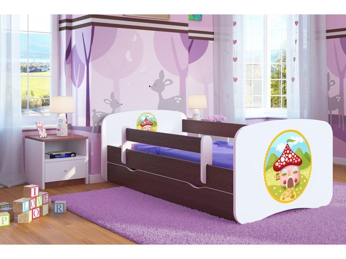 CARELLIA Cama Infantil 'casa de Juguete 80 cm x 160 160 160 cm con Barriere Zapatillas de + somier + cajones Incluye colchoacute;n. ndash; Wenge a4cb18