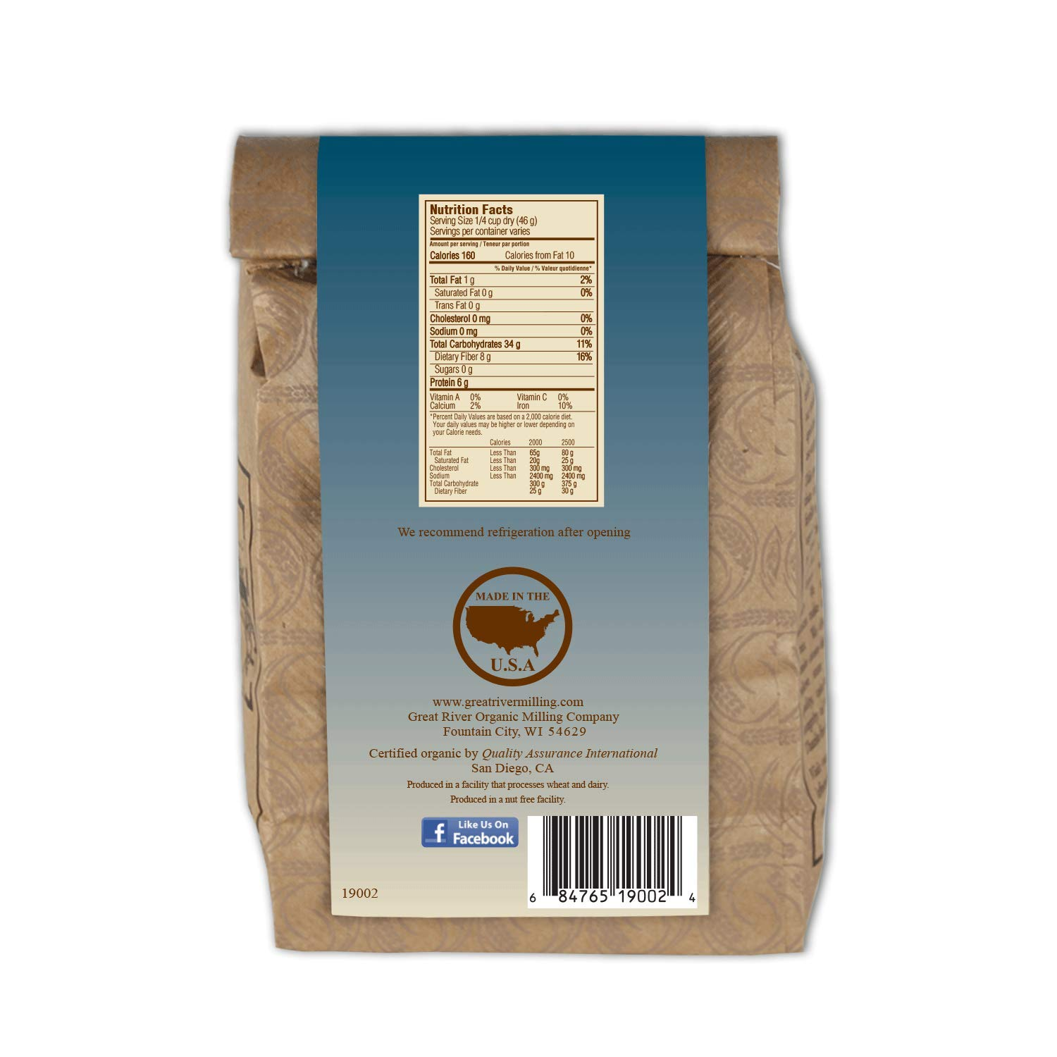 Great River Organic Milling Organic Barley Flour, 2 Pound(Pack of 4) by Great River Organic Milling (Image #2)