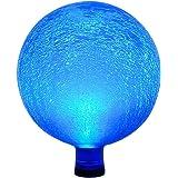 Achla Designs Celestial Orb Solar 10-Inch Gazing Globe Ball, Teal