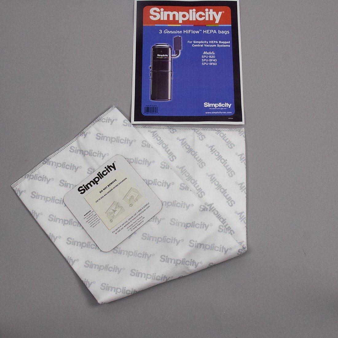 SIMPLICITY CENTRAL VACUUM BAGS SCB-3