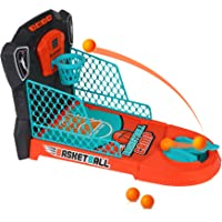 COLOR TREE Kids Basketball Shooting Game Desktop Toys with Electronic Scorer and Music and Lights, One or Two Player…