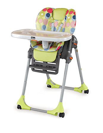 Genial Chicco Polly Double Pad Vinyl High Chair, Splash