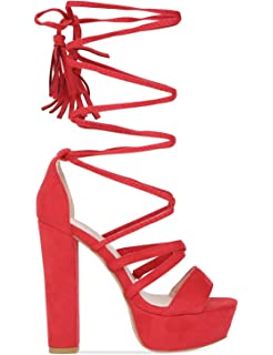 LAMODA LM025 Faux Suede, Damen Clogs & Pantoletten, Rot - Rot - Größe: 36.5