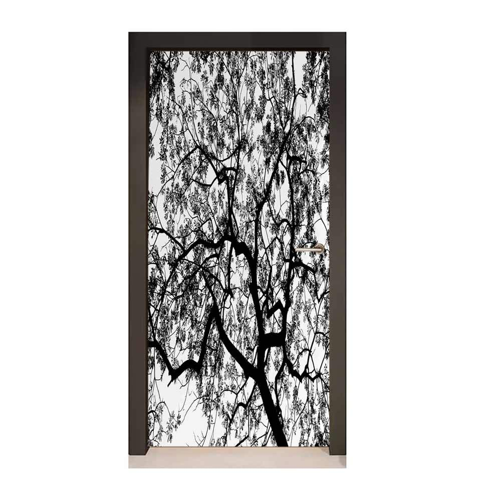 Amazon Com Forest Door Wallpaper Forest Tree Branches Modern